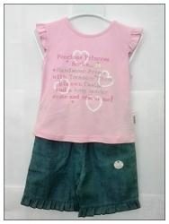 Kalhotová sukně s halenkou